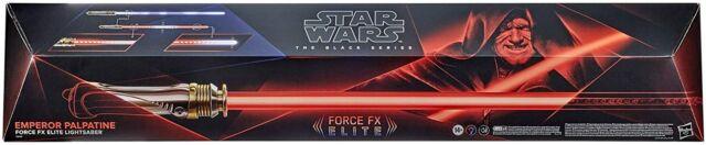 Star Wars Black Series Emperor Palpatine Force FX Elite Lightsaber NEW
