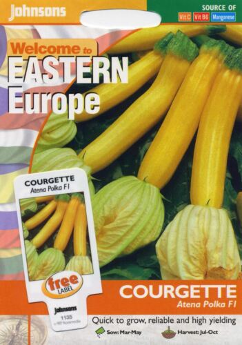 Johnsons PITTORICA Pack-vegetale-le zucchine ATENA Pois F1-20 semi