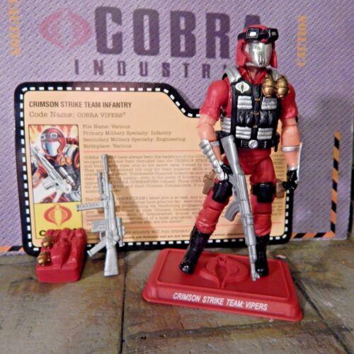 Gi joe ~ 2009 Crimson Viper ~ 100/% /& CARTE ~ Convention JOECON Strike Team 1986
