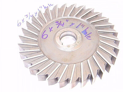 """RESHARPENED USA HSS STAGGERED TOOTH CUTTER 4/"""" HOLE x 1//8/"""" x 1/"""" HOLE"""