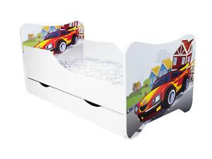 Children Bed Cars, Junior Bed with mattress 140x70cm + drawer