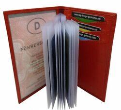 Ausweisetui Ausweistasche Ausweismäppchen Kreditkartenetui Kartenetui Rot