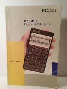 hewlett packard hp 17bii business financial calculator owner s rh ebay com HP 17Bii Plus hewlett packard 17b business calculator manual
