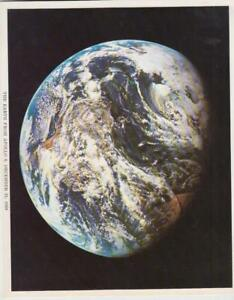 """1968 Glossy Photo /""""4 x 6/"""" inch F EARTH RISE FROM APOLLO NASA December 29"""