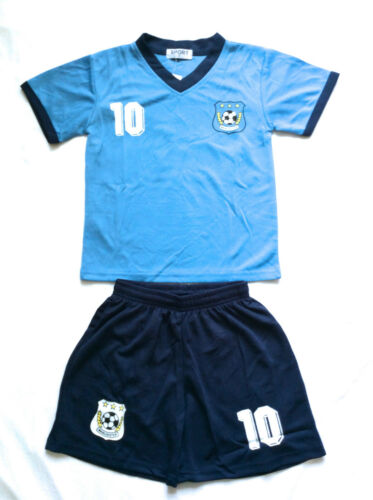 UNISEX MANCHESTER FOOTBALL KIT light blue Ages 2 years to 14 Years