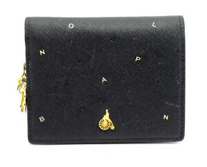 Card With Beanpole Black Accessory Charm Women Wallet Purse Leather txxqvgwT