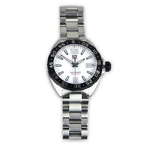 0cac7d89a50f Tag Heuer Formula 1 Quartz 41mm White Dial Men s Watch WAZ1111 ...