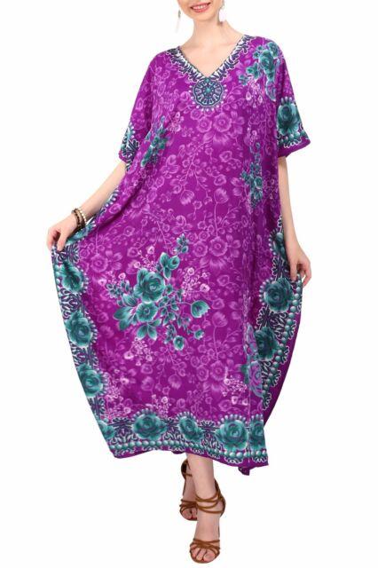 223a60a8c5e Miss Lavish Kaftan Tunic Kimono Maxi Dress Plus Size 10 12 14 16 18 ...