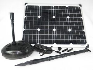 50 watt solar teichpumpe tauchpumpe solarpumpe. Black Bedroom Furniture Sets. Home Design Ideas