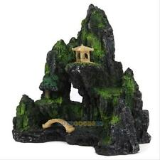 Mountain View Aquarium Ornament Rock Cave Stone Tree Bridge Fish Tank Decoration