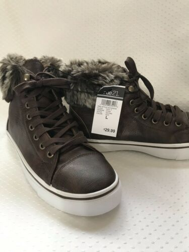 Brown Leather Sneakers Size Large 8//9 By Rue21