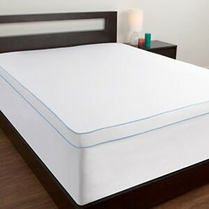 topper cover for memory foam mattress full size bed pad matress ebay. Black Bedroom Furniture Sets. Home Design Ideas