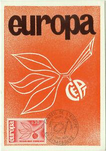 CARTE-MAXIMUM-1er-JOUR-EUROPA-1965-N-1455-STRASBOURG