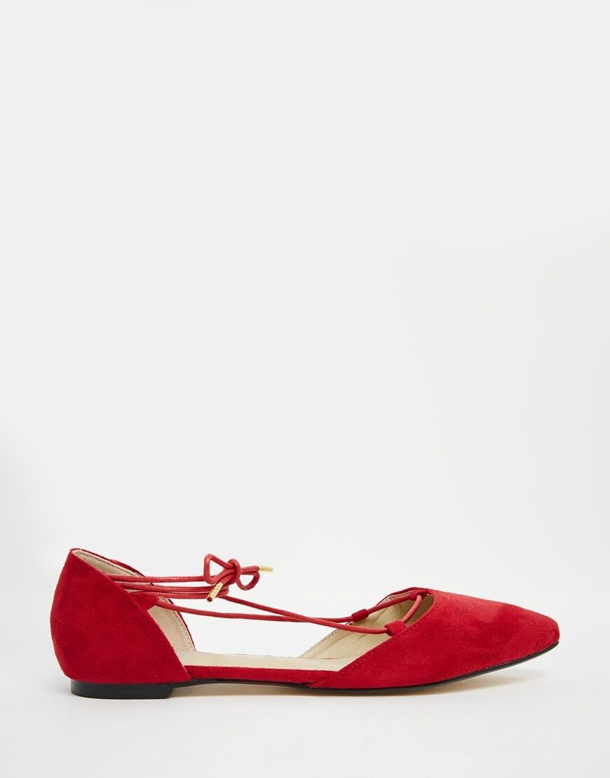 Truffle collection ROT Nicky Ghillie lace Flat schuhe,sIze 40