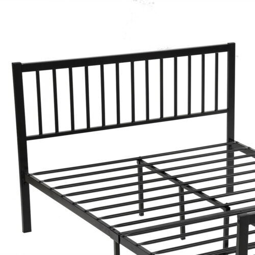 Sonia Metal Bed Frame 3ft 4ft Small Double Size Solid Bedstead Base Headboard