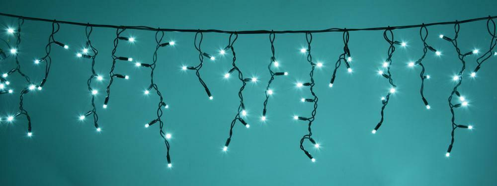 Fluxia 155.438UK 300 Cyan LEDs Heavy Duty Icicle String Lights w  230Vac Control