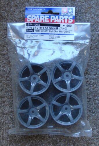 Tamiya RC 24mm Porsche 5 Spoke Wheels 4 Pieces 1:10 OnRoad Car Offset 0 # 51072