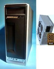 NEW Black Slim Micro ATX Mini-ITX Tower/Desktop PC Case 400W 80+ PCIE PSU,2-Fan
