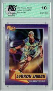 2003 Rookie Review #59 LeBron James Rookie Card PGI 10 Gem Mint