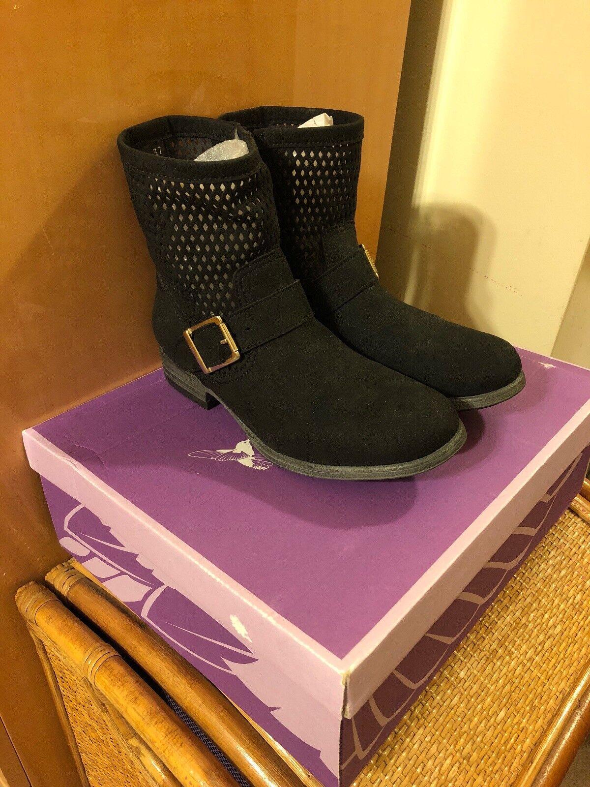 Nueva con caja novaca para mujer botas Negras Vegano Martha