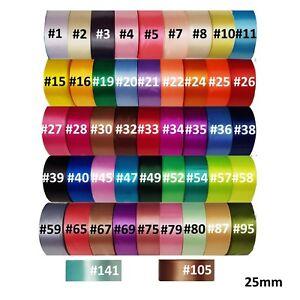 NASTRO-di-raso-25mm-1-pollici-22yrd-ROLLS-SINGOLA-FACCIA-Buy-2-GET-50-di-sconto