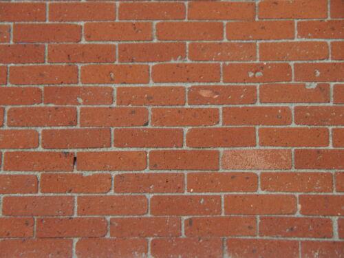 1000 1:12 TH Naturale Mattone georgiano ROSSO MATTONE reale brickslips per case di bambole