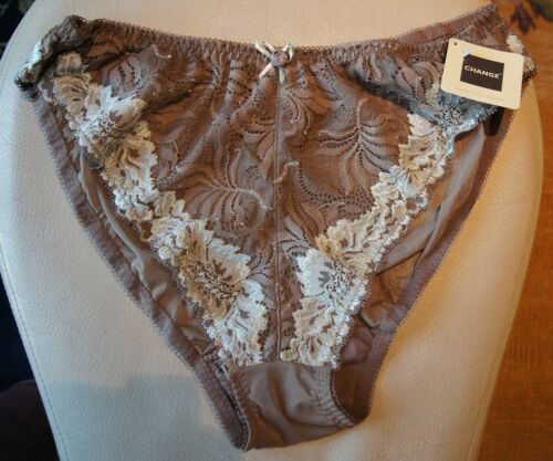 Change of Scandinavia Cappucino//Turquoise Floral Levers Lace High Briefs