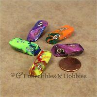 5 Crystal Caste D6 Toxic Dice Set - 5 Colors D&d Rpg Game Barrel Six Sided