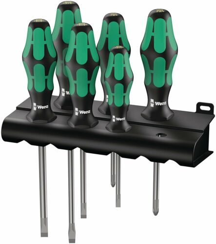 Wera 05105650001 334//6 Rack Screwdriver Set Kraftform Plus Lasertip and Rack