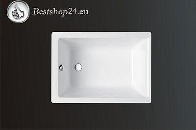 Raumsparwanne Rechteckwanne Rechteck Badewanne Capri 100 x 70 Wannenträger