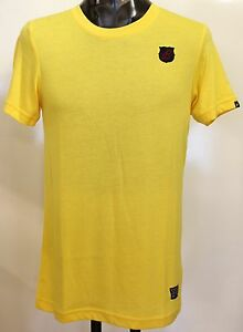 BARCELONA-YELLOW-SLIM-FIT-TEE-SHIRT-BY-NIKE-SIZE-SMALL-BRAND-NEW-WITH-TAGS