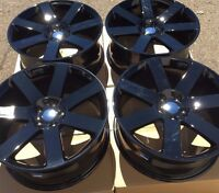 Set Of Four 4 20 X9 Wheels Rims Fit Chrysler 300 300c 300s Srt-8 Black Rwd