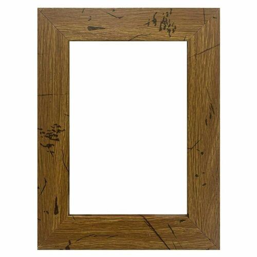 """US Art Frames 1.25/"""" Flat Distressed Light Oak MDF Picture Poster Frame"""