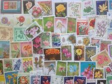 300 Different Flowers/Flora on Stamps Collection