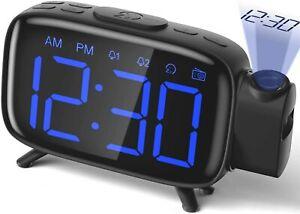 Projection Alarm Clock Radio Alarm Clock Digital Clock with Power Adapter Alarm Clocks