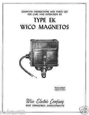 Wico Magneto EK Instruction Manual Hit Miss IHC On CD Pdf EBay