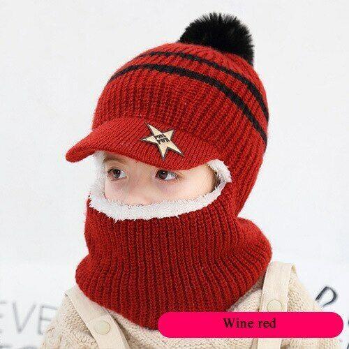 Sombreros De Invierno Para Niños Gorra De Punto Moda Forro Polar Orejas De Gato