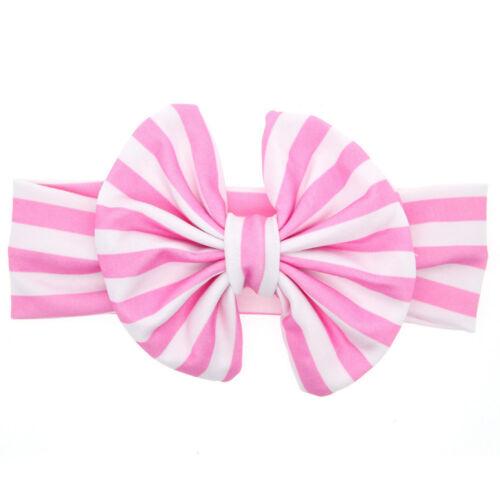 Baby Girl Big Bow Striped Headband Elastic Headwear Hair Band Hair Accessories