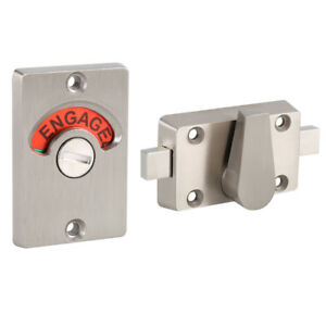 Image Is Loading Bathroom Lock Toilet Privacy Door Indicator Bolt Stainless