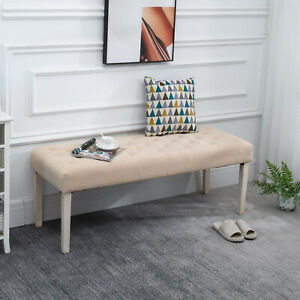Modern Simplicity Household Bed End Footstool with Soft Sponge Cushion, 52