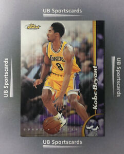1998-99-Topps-Finest-Kobe-Bryant-Base-Card-175-Los-Angeles-Lakers-Nice