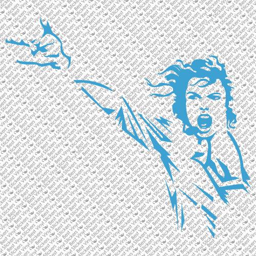 MICHAEL JACKSON KING POP MUSIC CUSTOM CAR WINDOW VINYL DECAL STICKER MJ-3