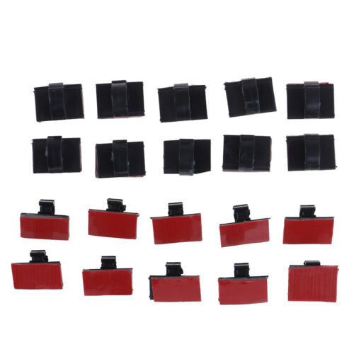 20pcs self-adhesive wire tie cable clamp clip holder for car dash cam Fad G cw