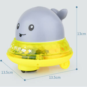 SCIONE Baby Whale Bath Toys with LED Lights for Kids Toddlers Sprinkler Shower Pool Bathroom Light Up Bathtub Toys for Baby Boys and Girls