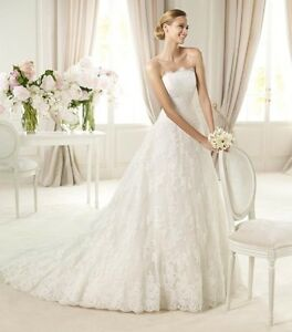 New-Stock-White-Ivory-Lace-Wedding-Dress-Bridal-Gown-Size-6-8-10-12-14-16-18