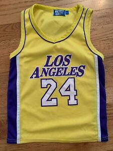 Lakers Kobe Bryant #24 Jersey Children's Size 7 (Small) Los ...