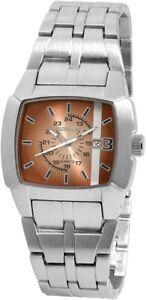 Excellanc-Herrenuhr-Braun-Silber-Analog-Datum-Metall-Armbanduhr-X-280127000004
