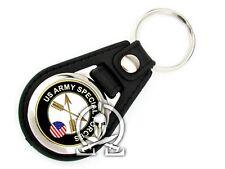 Porte clés METAL & CUIR SYNTHETIQUE - US SPECIAL FORCES seal rangers SOCOM delta