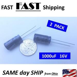 Details about 16V 1000uF capacitor 1000 micro farad 16 volt