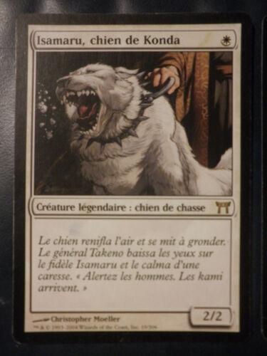 4 available mtg isamaru hound of konda FRENCH Kamigawa chien de konda